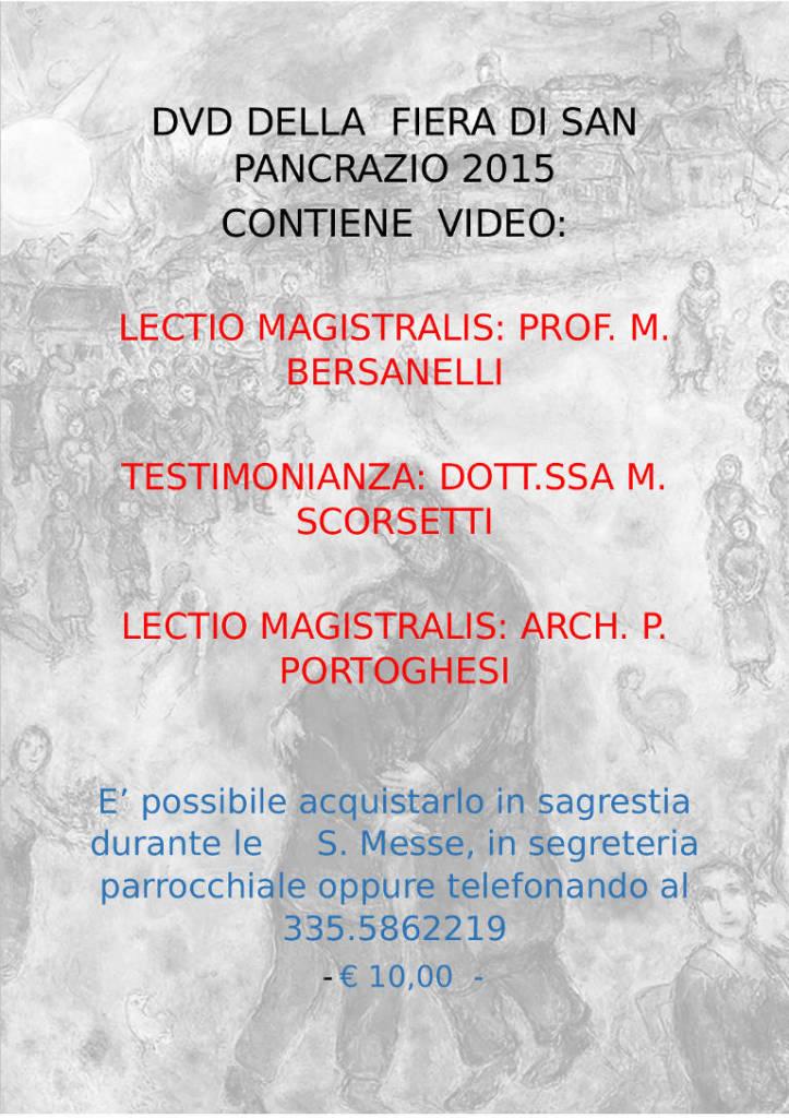DVD DELLA  FIERA DI SAN PANCRAZIO